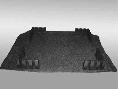 Diagram Heavy Duty Trunk Liner with Cargo Blocks – Gray (5C0061166A469) for your 2016 Volkswagen Beetle